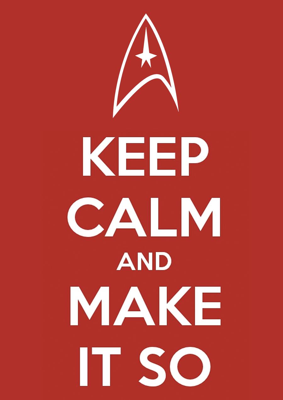 Star Trek Keep Calm And Boldly Go Decal Vinyl Truck Car Sticker