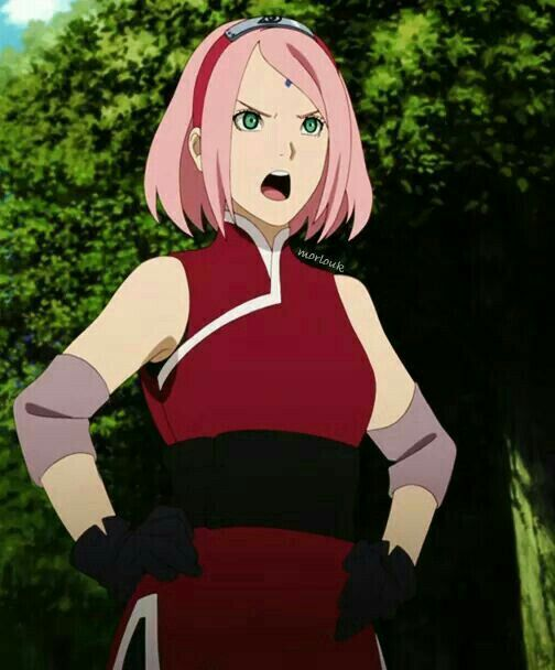 Anime Naruto Shippuden Boruto The Origin Of The Name: Sakura The Last Outfit Is The Most Beautiful I Thing