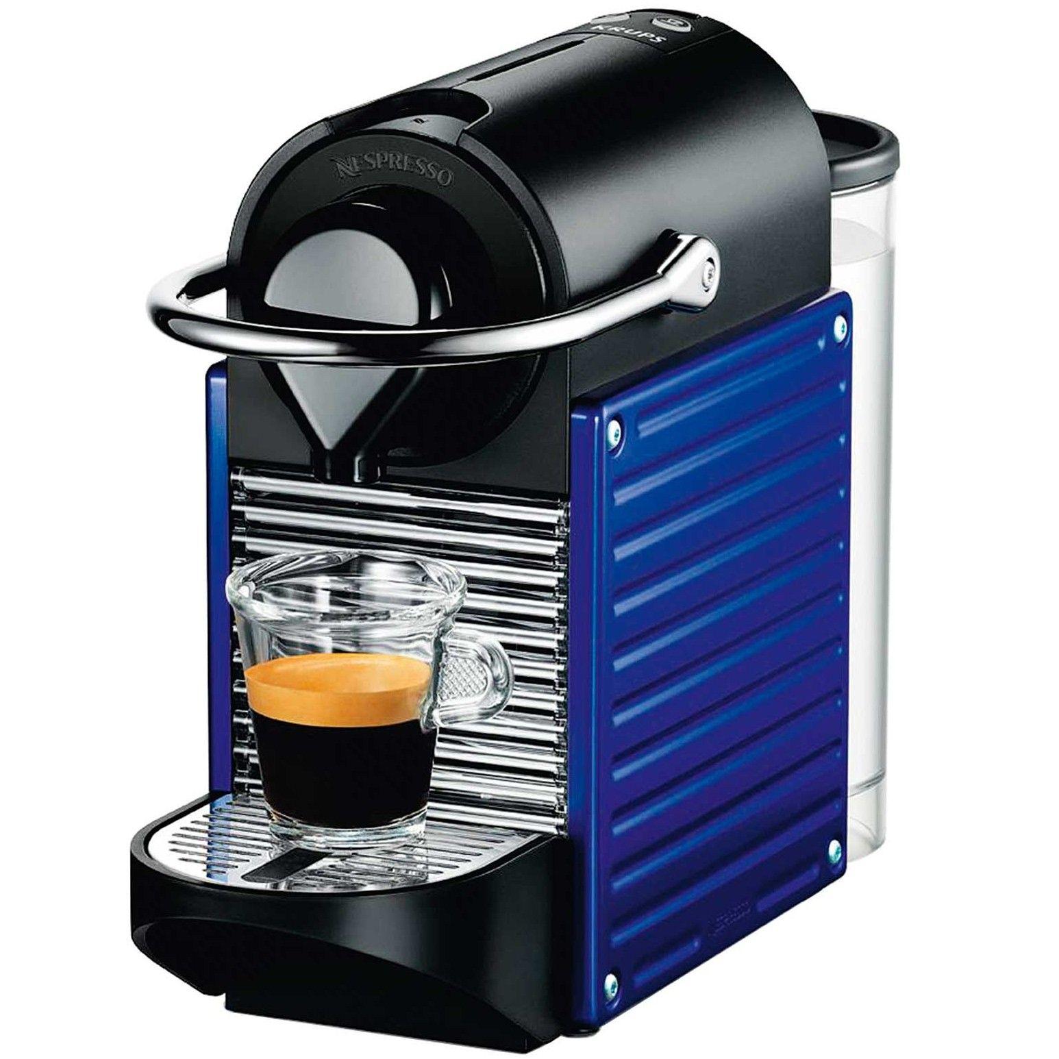 Krups Nespresso Pixie Coffee Machine (Blue) Capsule