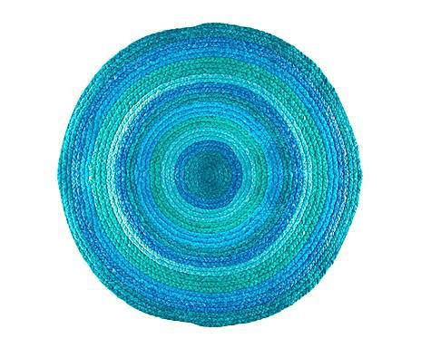 Grandes ideas a precios mini: Alfombra redonda -azul