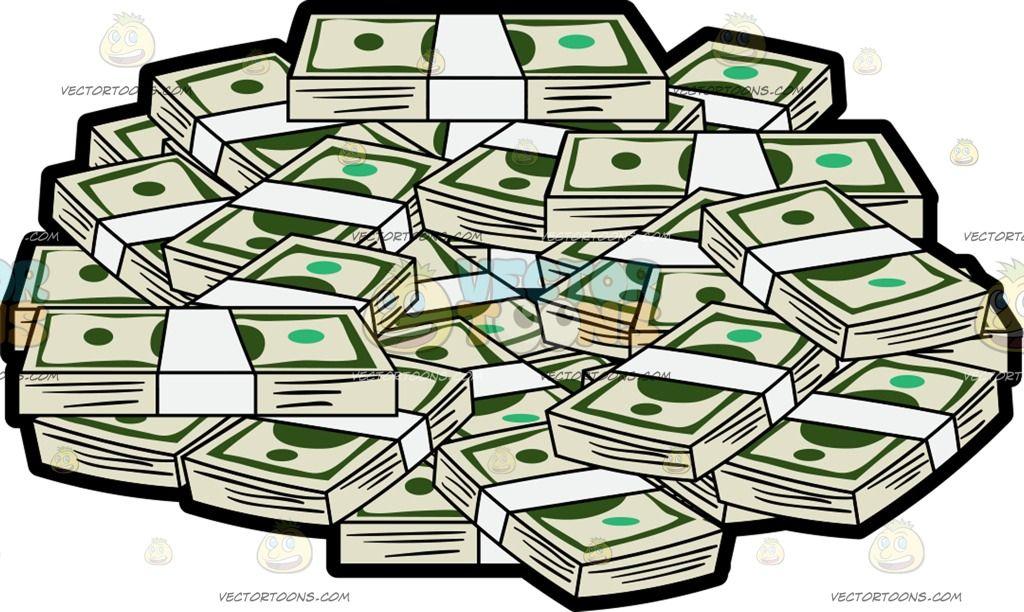 Bunch Of Money Forming A Circle Cartoon Clip Art Book Art Money Rose
