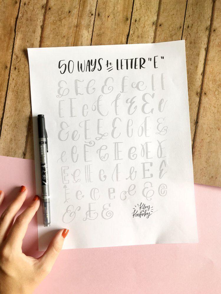 50 Ways to Draw An \'\