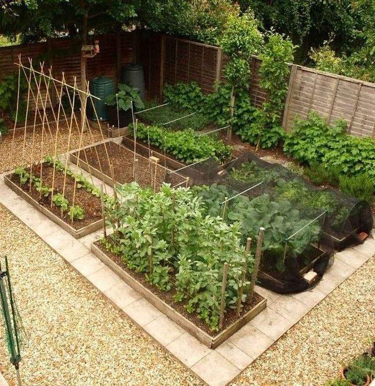 80 affordable backyard vegetable garden design ideas  #Affordable #Backyard #De