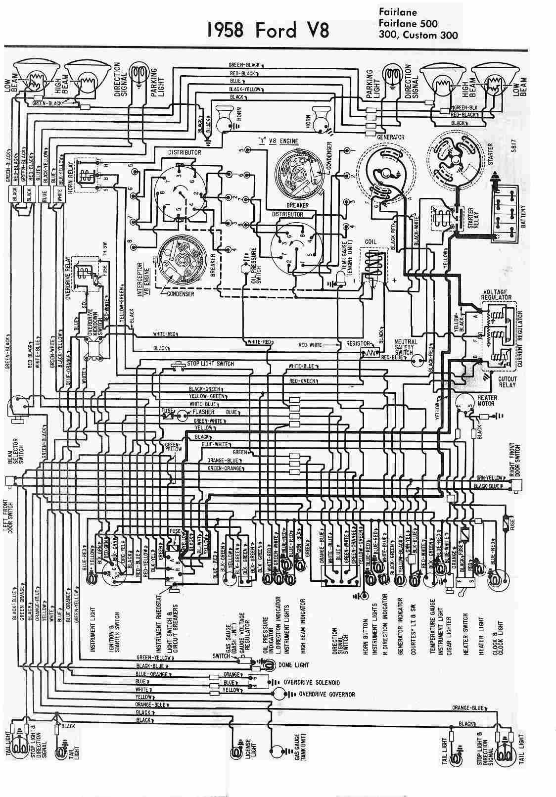 Electrical Wiring Diagram Of 1958 Ford V8 Circuit Diagram Electrical Wiring Diagram Diagram