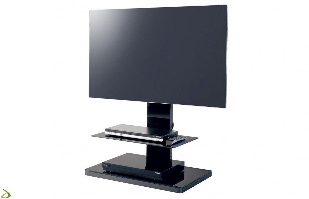 Colonna Porta Tv Design.Porta Tv Bianco A Colonna Di Design Con Ripiano In Vetro