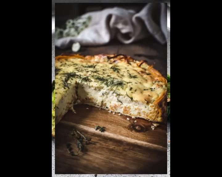 Photo of Cheesy Herb Quiche With A Potato Crust