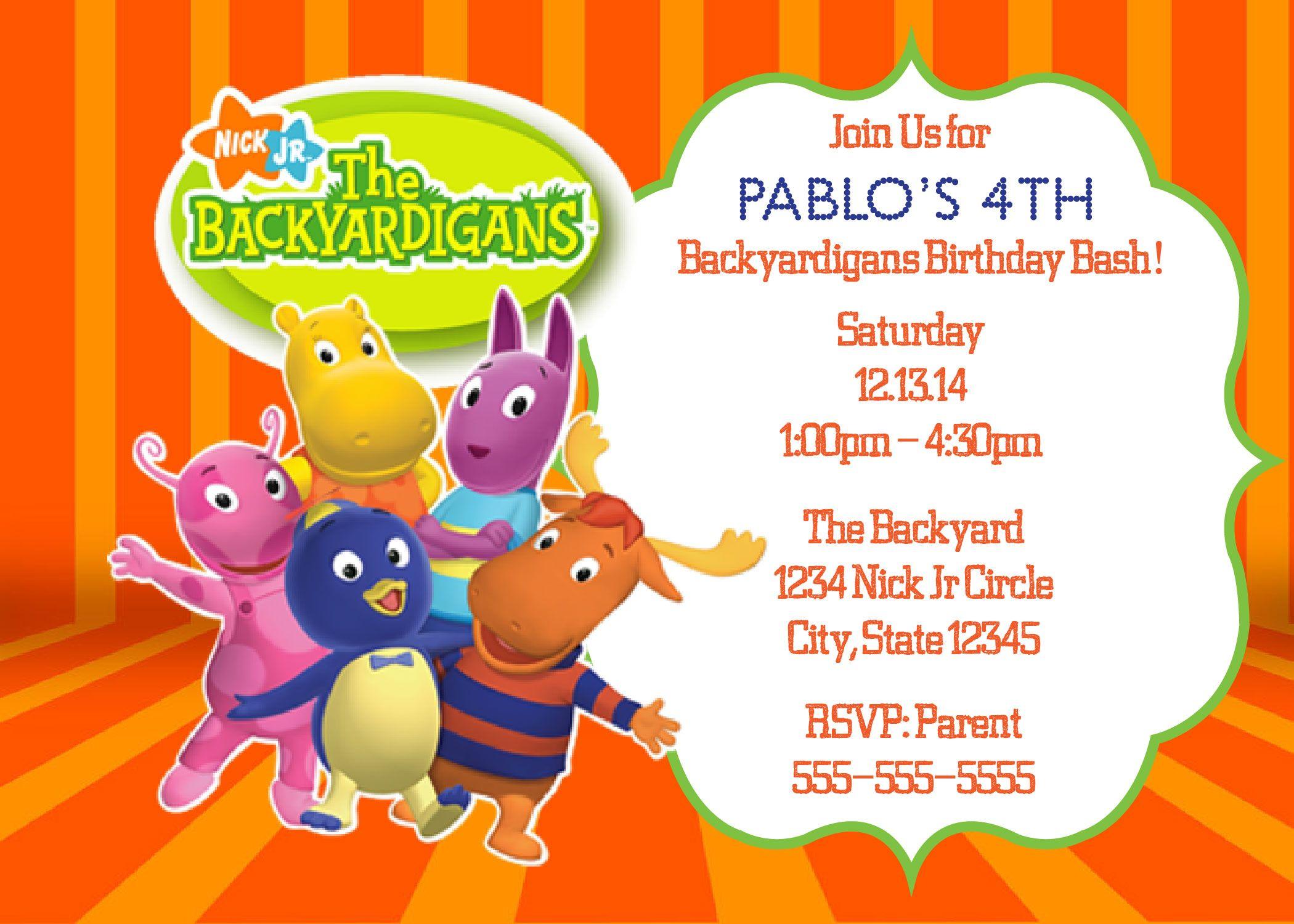 The Backyardigans Digital Birthday Invitation