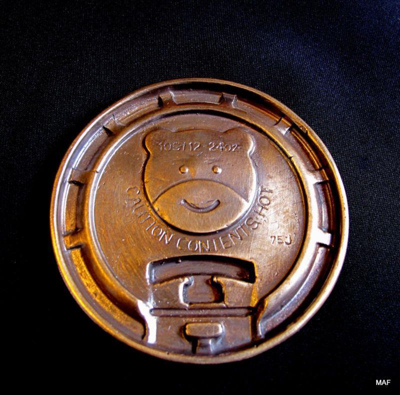 """Cast Bronze  """"Bear Coffee Cup Cover"""" Original Unique , Sculpture Paperweight, $300.00, www.springgallerymaine.com, www.modernartfoundry.com"""