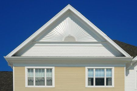 Build A Gable Louver Vent Doityourself Com Gable Roof House Gable Vents House Paint Exterior