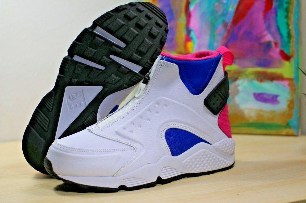Nike 807313 100 Air Huarache Run Mid White Black Pink Womens
