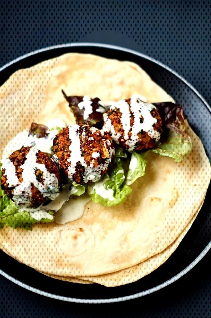 Quinoa Feta Spinat Bratlinge | Vegetarische Burger Patties | Rezept auf |