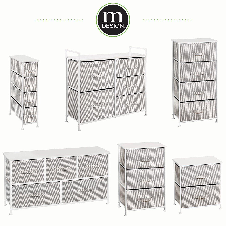 Best Amazon Com Mdesign Wide Dresser Storage Tower Sturdy 640 x 480
