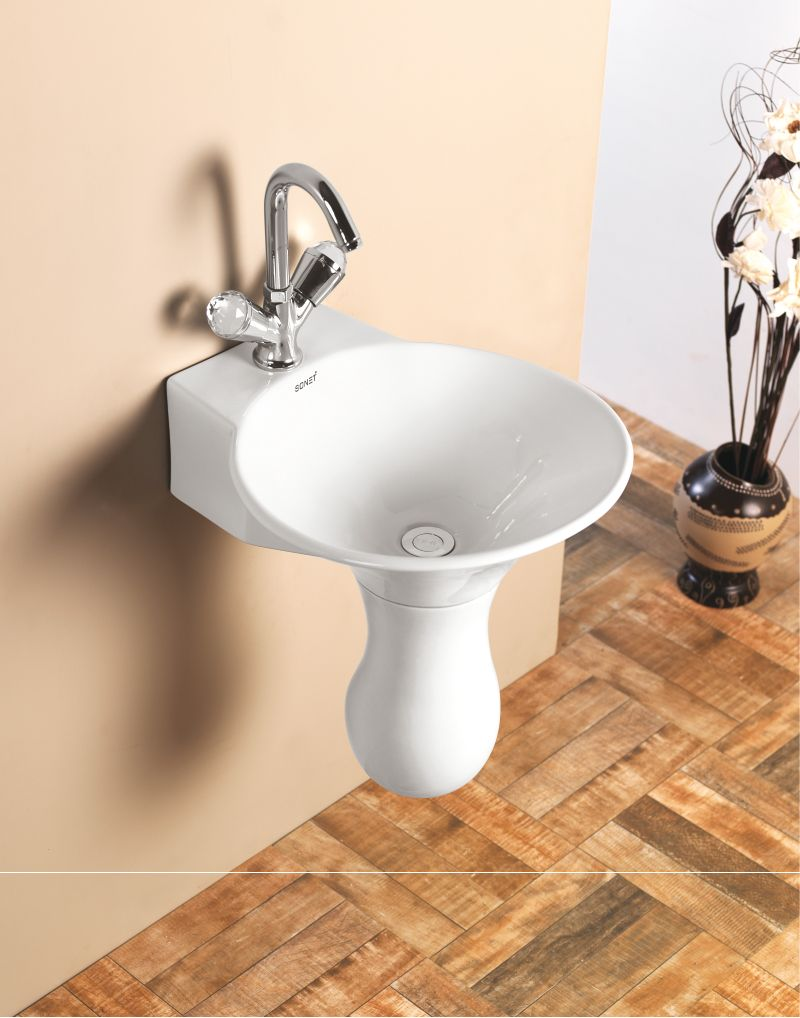This is Dolphin Half Set Wash Basin from Sonet India. For more ...