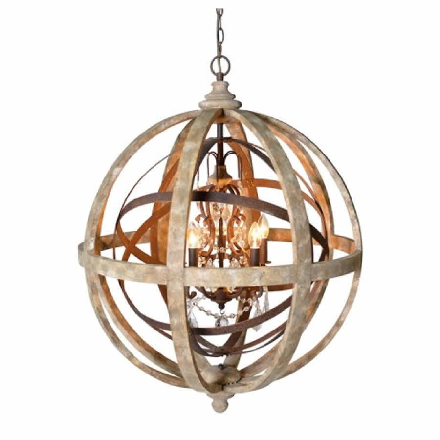 Chandeliers Glamorous Sphere Chandelier: Wooden Orb Chandelier Metal Orb  Detail And Crystal By Cowshed Sphere