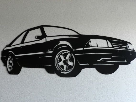 Custom Metal Wall Art 93 Ford Mustang by SunsetMetalworks on Etsy $300.00 Now that is & Custom Metal Wall Art 93 Ford Mustang by SunsetMetalworks on Etsy ...