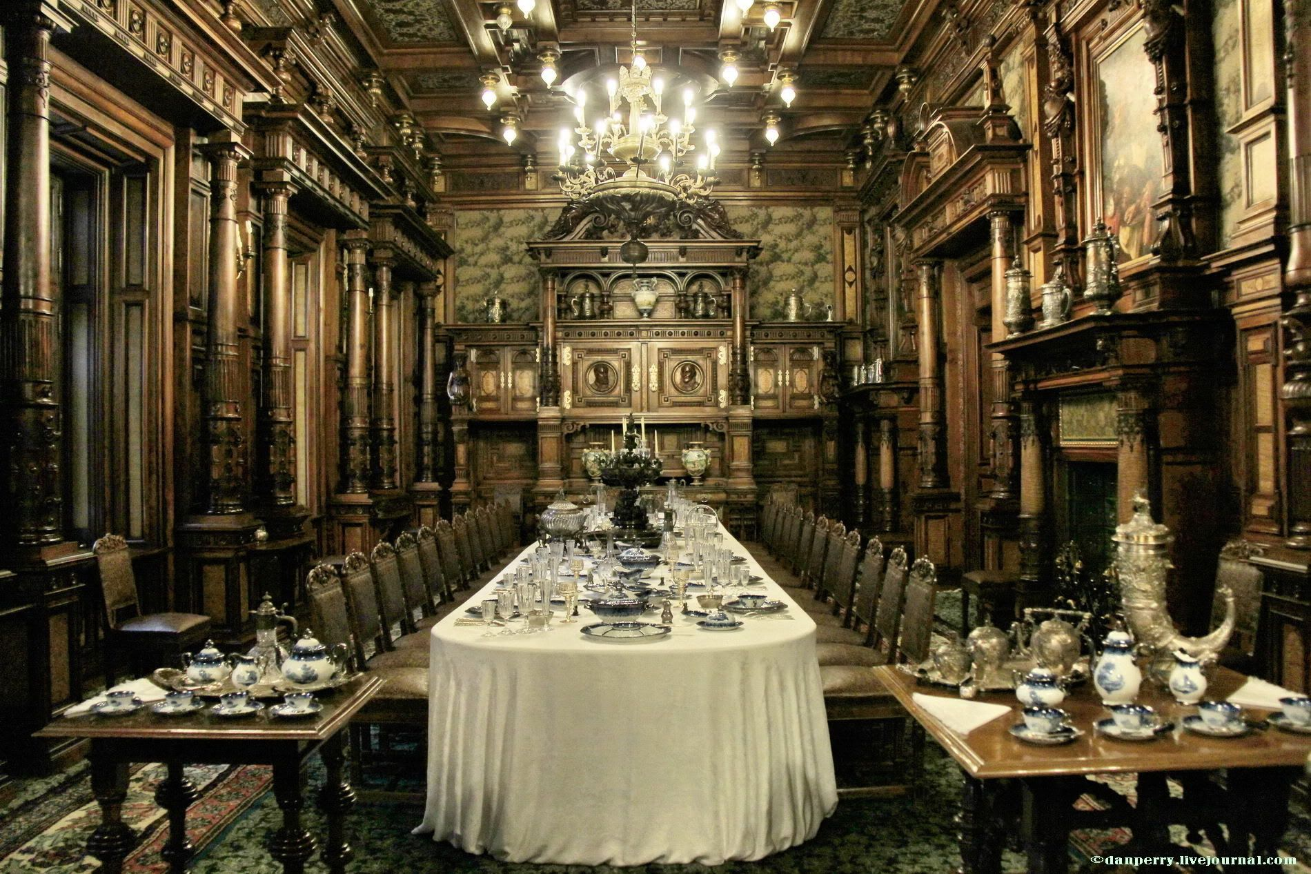 one of the palace dining rooms in derek and isadora's palace