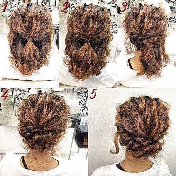 Recogido Sencillo Simple Prom Hair Hair Styles Short Hair Updo