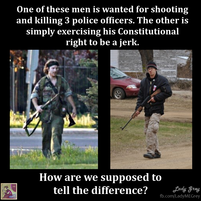 Confirm. was open carry gun assholes think
