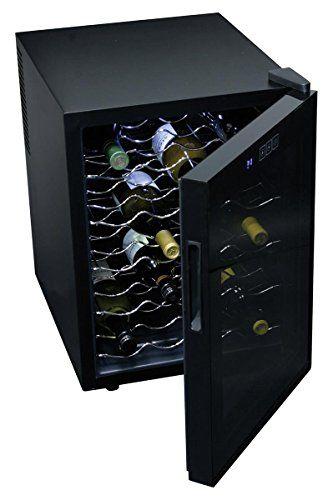 Koolatron Wc20 Mirrored Glass Door Wine Cellar 20 Bottle Black Wine Cellar Mirrored Glass Wine Bottle