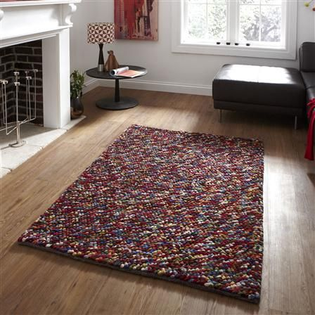 Think Pebbles 120x170cm Rug Multi Achica Contemporary Wool Rugs Vibrant Rugs Rugs