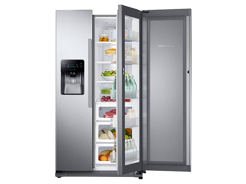 25 Cu Ft Food Showcase Side By Side Refrigerator With Metal
