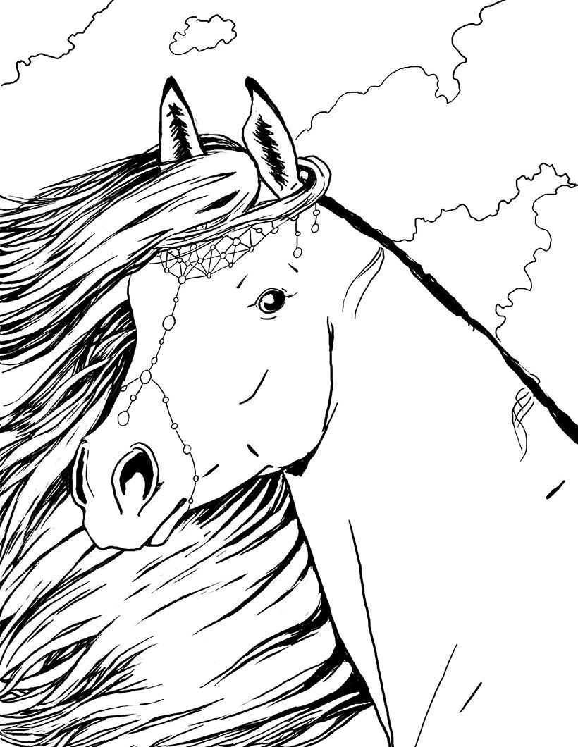 coloriage portrait de cheyenne bella sara coloriage animaux