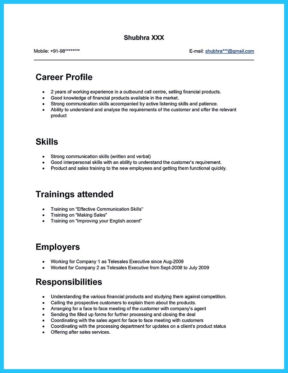 what will you do to make the best call center resume  so