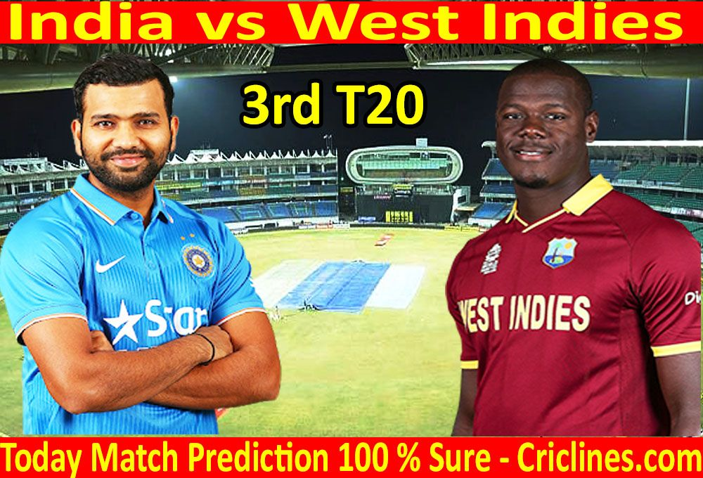 India vs West Indies 3rd T20 today match prediction  We