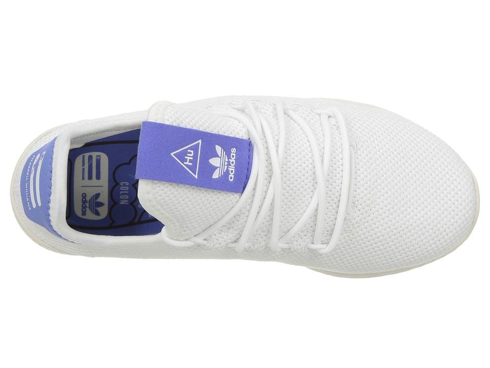adidas Originals Kids PW Tennis HU C (Little Kid) Kids Shoes White Blue 1d9b05cf2