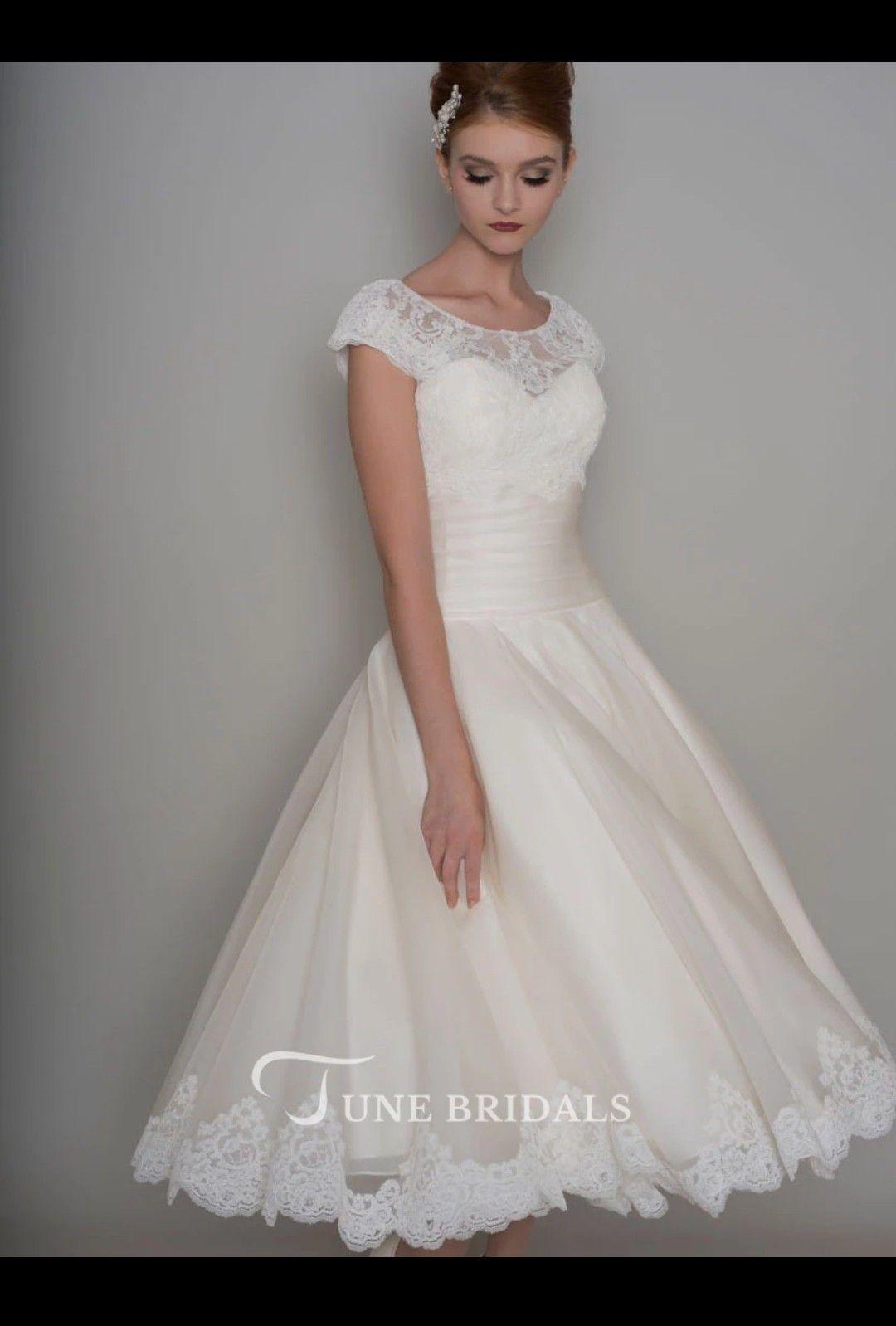 Pin by Deb Moulton on Brides | Tea length wedding dress ...