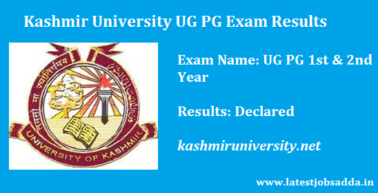 Kashmir University Results 2017 UG PG Exam Marks List Roll No Wise