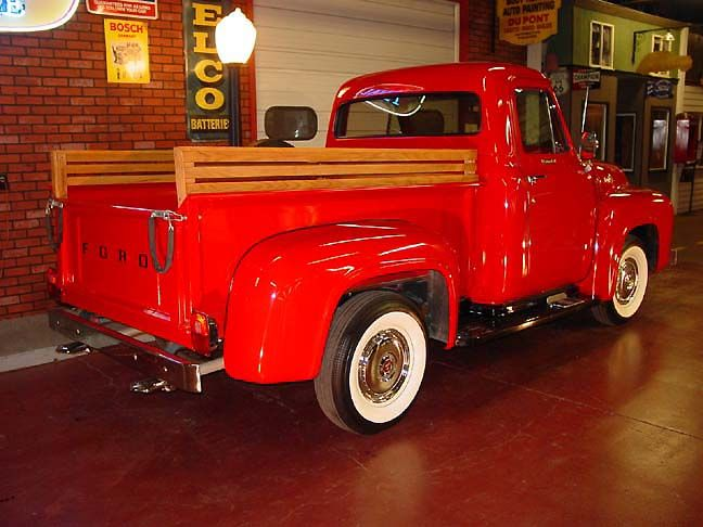 1955 Ford Red Truck Photos 1955 Ford F100 Spring Grove 60081