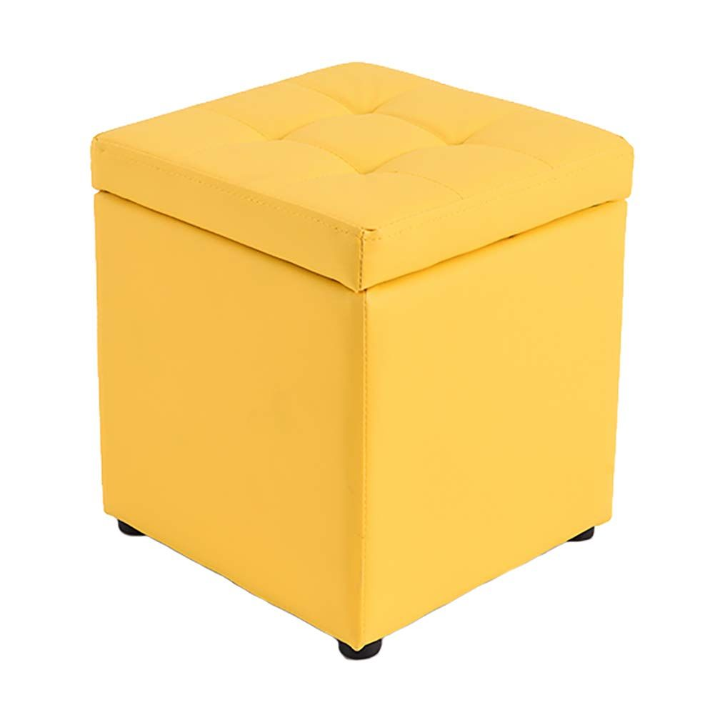 Lyqqqq Ottomans Leather Storage Stool With Lid Ottoman Square Shoes Bench For Kids Footstool Sofa Bench Size Yellow In 2020 Leather Ottoman Storage Stool Shoe Bench