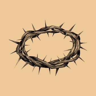 Cristo Fotos Y Vectores Gratis Corona De Espinas Dibujos Faciales Manos Dibujo