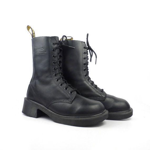 Doc Martens Boots Vintage 1990 Black Dr