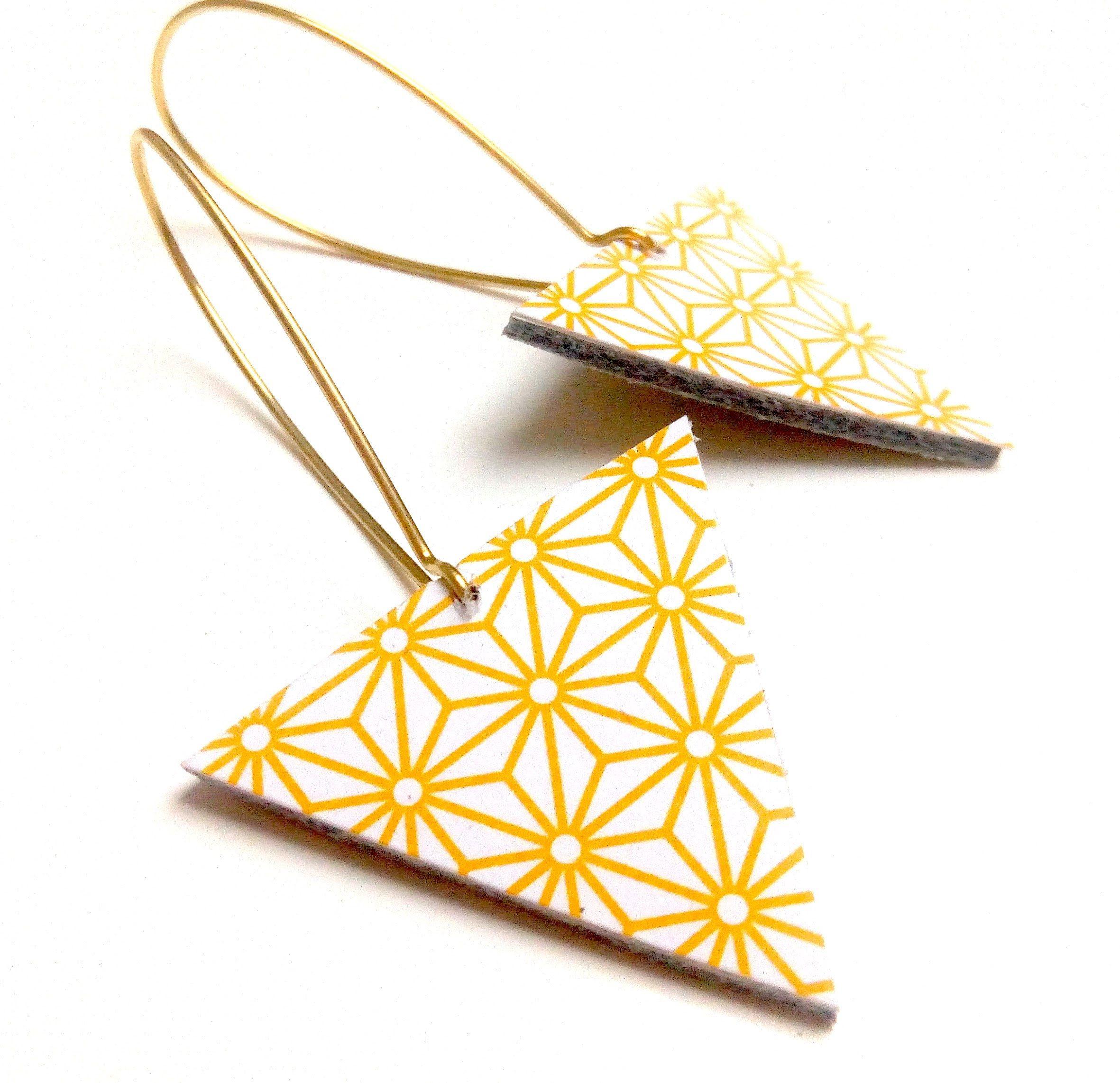 BO cuir illustré asanoha motif japonais