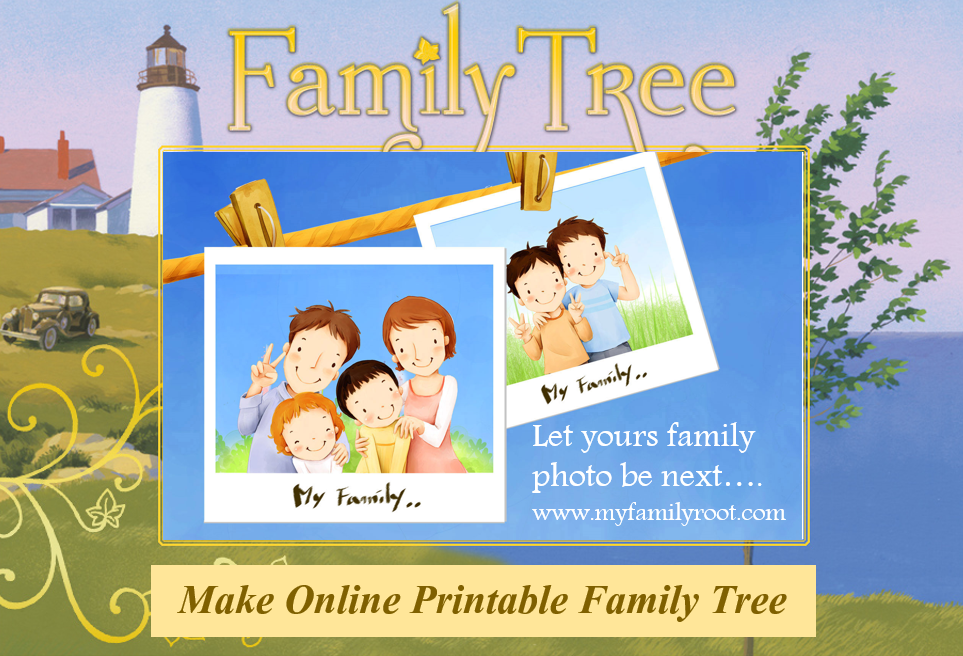 make online printable family tree with my family root make family