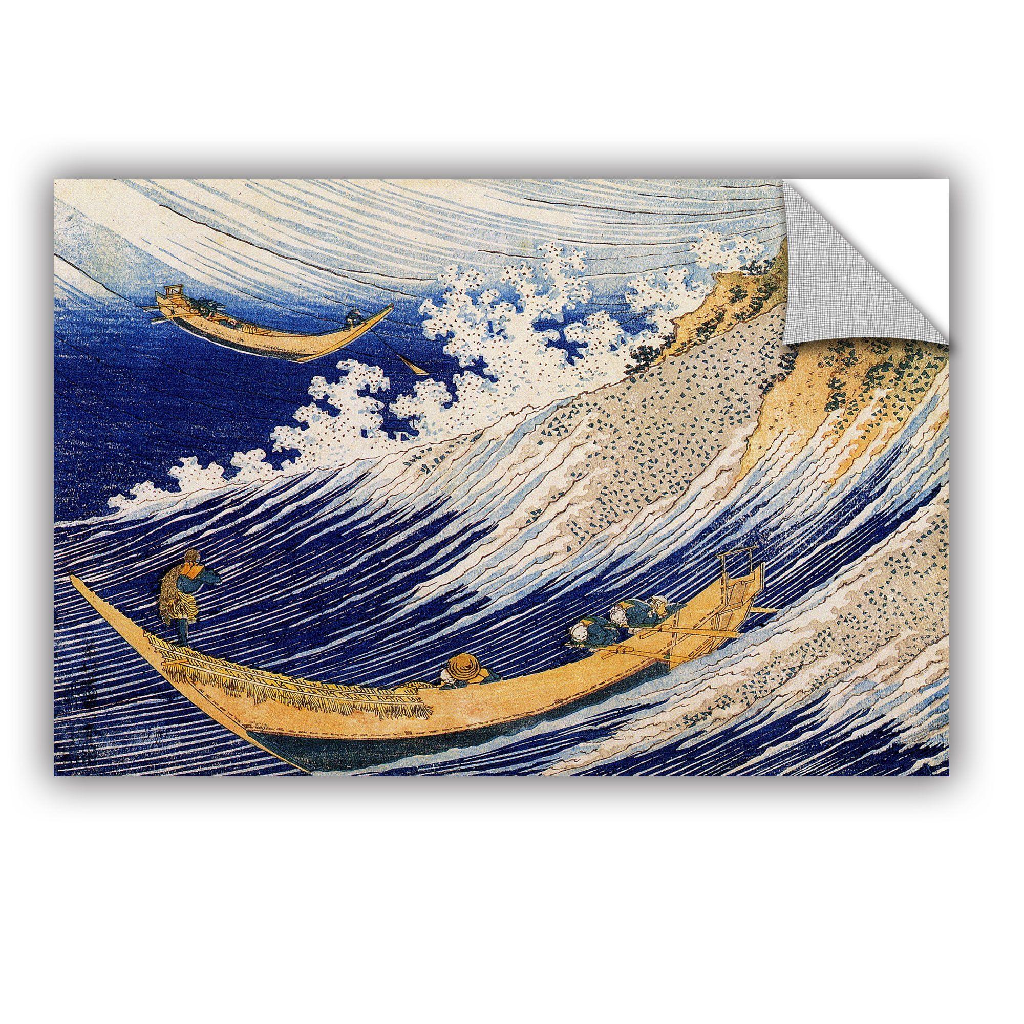 ArtApeelz Ocean Waves by Katsushika Hokusai Painting Print on Canvas