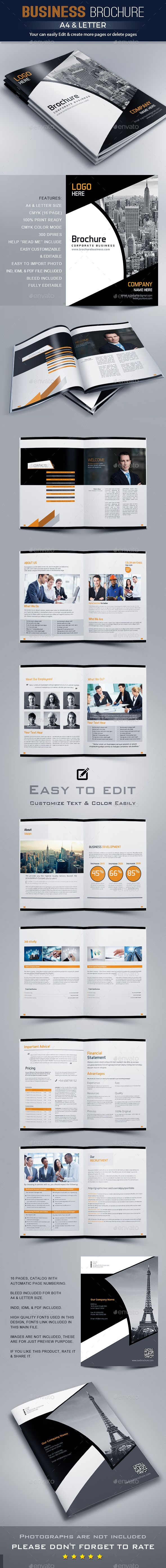 Brochure Template InDesign INDD | diseño | Pinterest | Arte gráfico ...