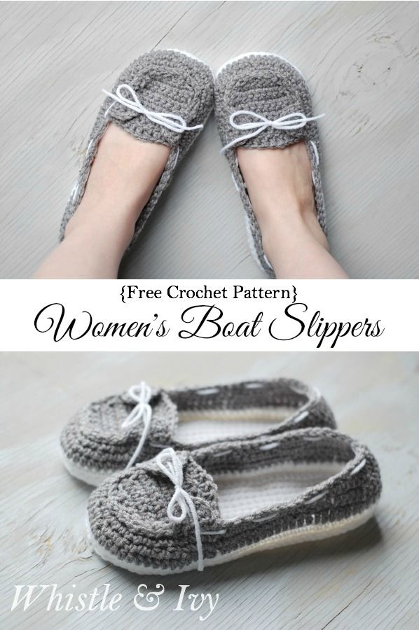 Women\'s Crochet Boat Slippers | Lana, Tejido y Zapatos