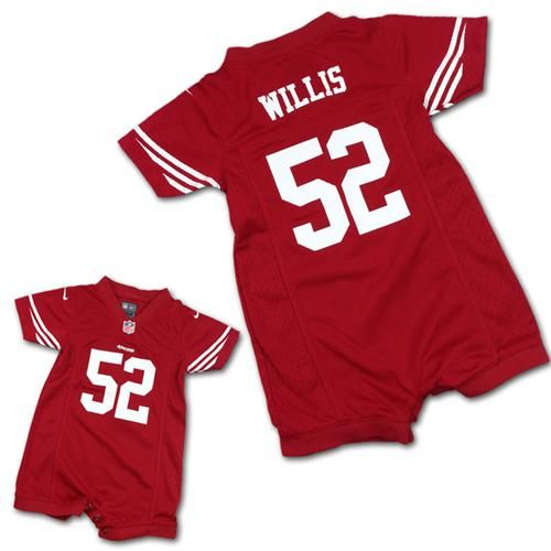 df47ef96519 Patrick Willis 49ers Infant Romper Jersey #SF #49ers #Willis #Baby #Infant # Jersey #Romper #BabyFans