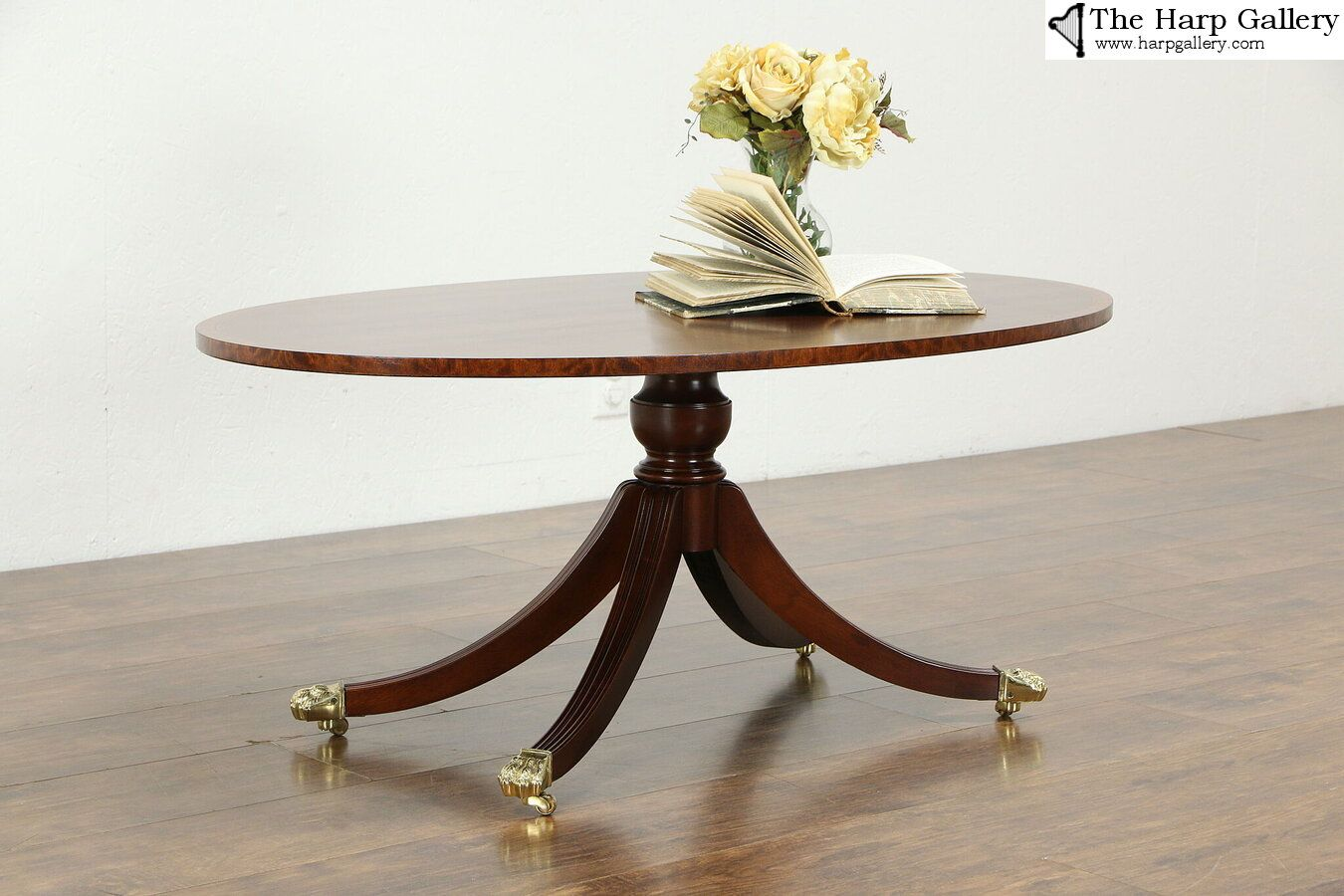 Traditional Vintage Oval Coffee Table Banded Mahogany Signed Councill 34786 Oval Coffee Tables Vintage Living Room Furniture Coffee Table [ 900 x 1350 Pixel ]