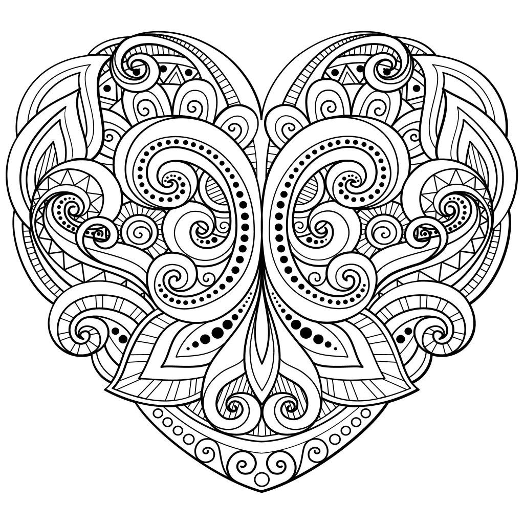 Hearts Coloring Pages For Adults Best Coloring Pages For Kids Heart Coloring Pages Love Coloring Pages Mandala Coloring Pages