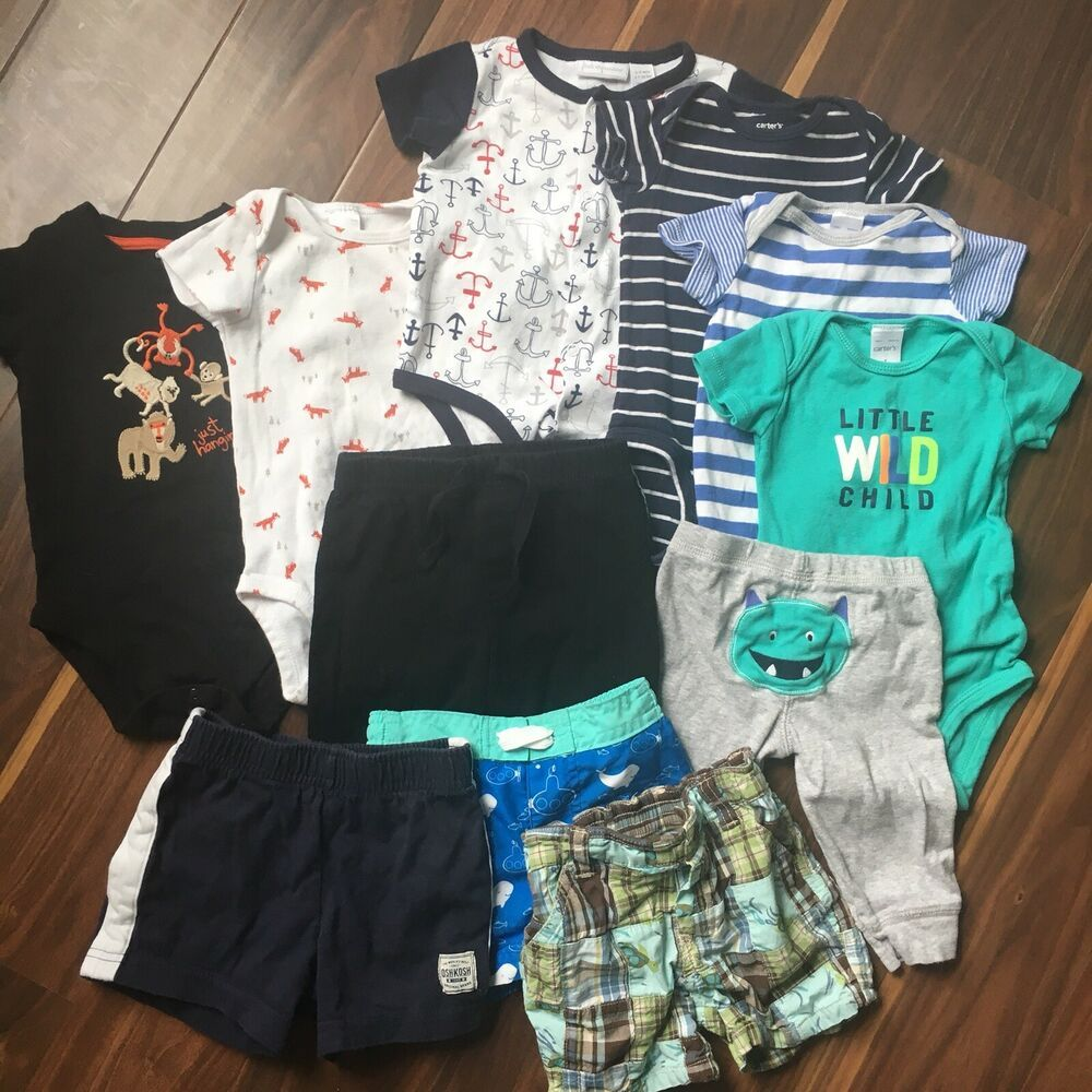 Ebay Sponsored Baby Boy Clothes 11 Pc Lot Carter S Gymboree Summer Shorts Size 6 12 Months Boy Outfits Baby Boy Outfits Toddler Outfits