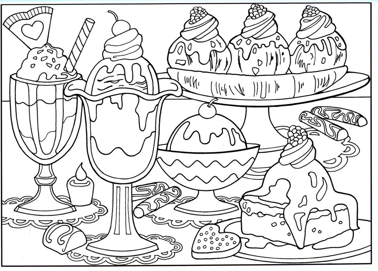 Printable Food Pictures To Color