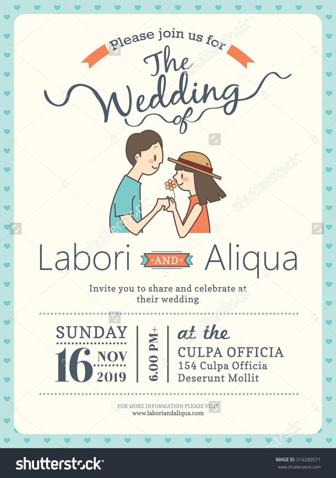 Cute Cartoon Invitations Cartoon wedding invitations