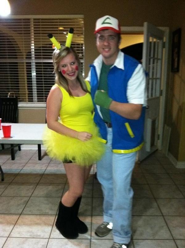 DIY Couples Halloween Costumes   Pikachu & Ash couples Halloween costume   DIY