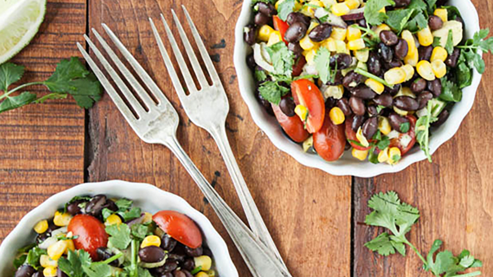Photo of Black Bean + Corn Salad with Cilantro-Lime Dressing – barre3
