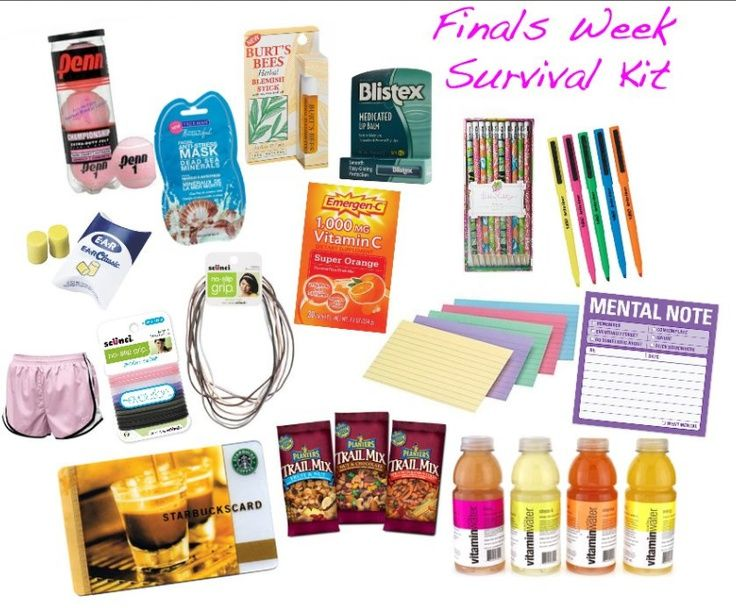 Finals Survival Kit Finals Pinterest Gifts Survival And Kit
