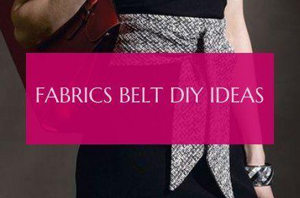belt diy ideas fabrics